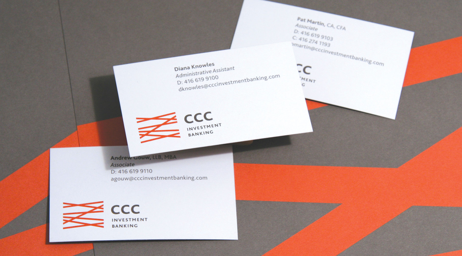 CCC Investment Banking business cards