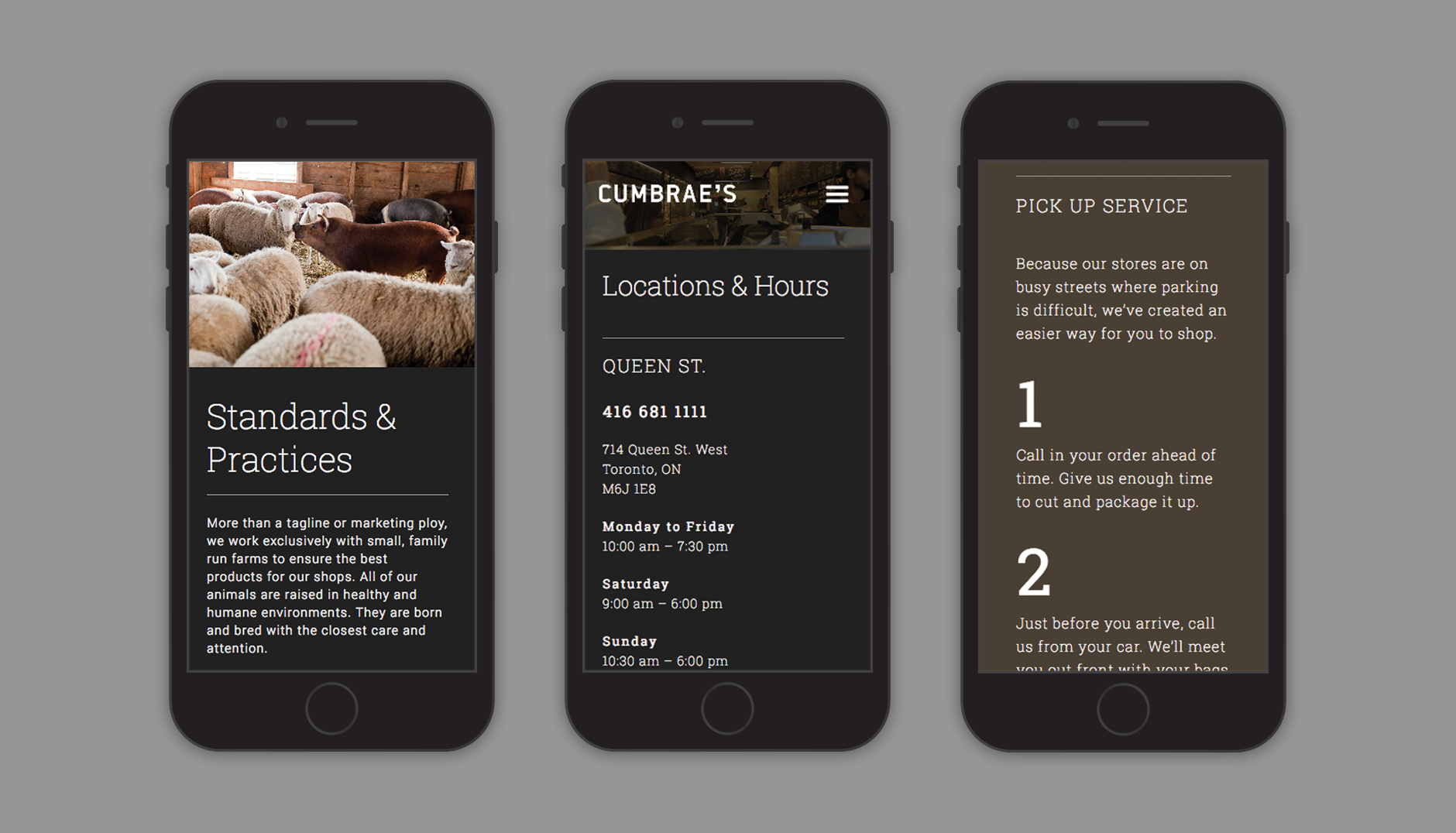 Cumbraes website mobile view