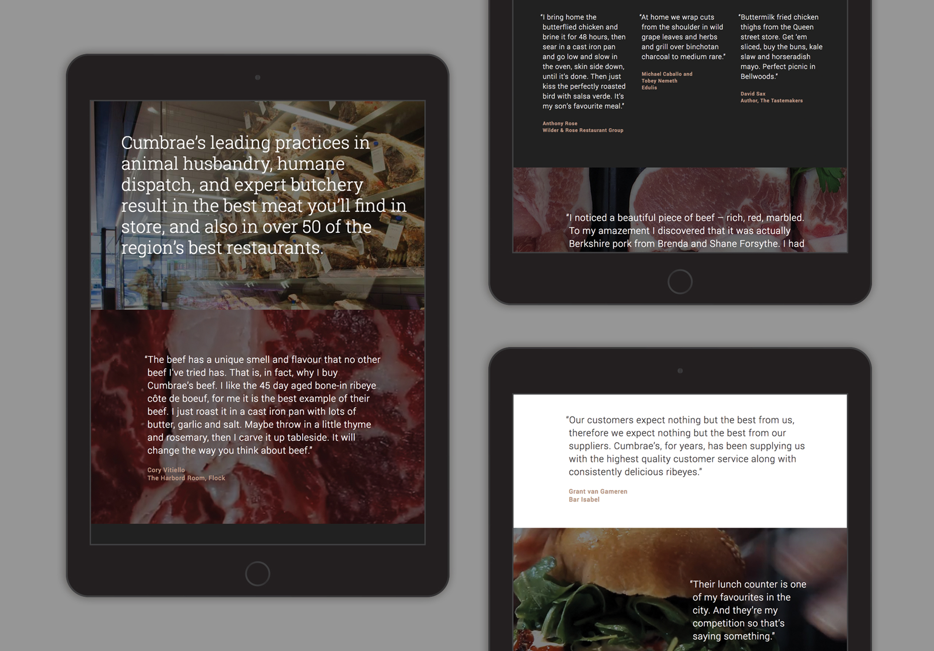 Cumbraes website chef quotes