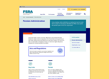 FSRA Home page