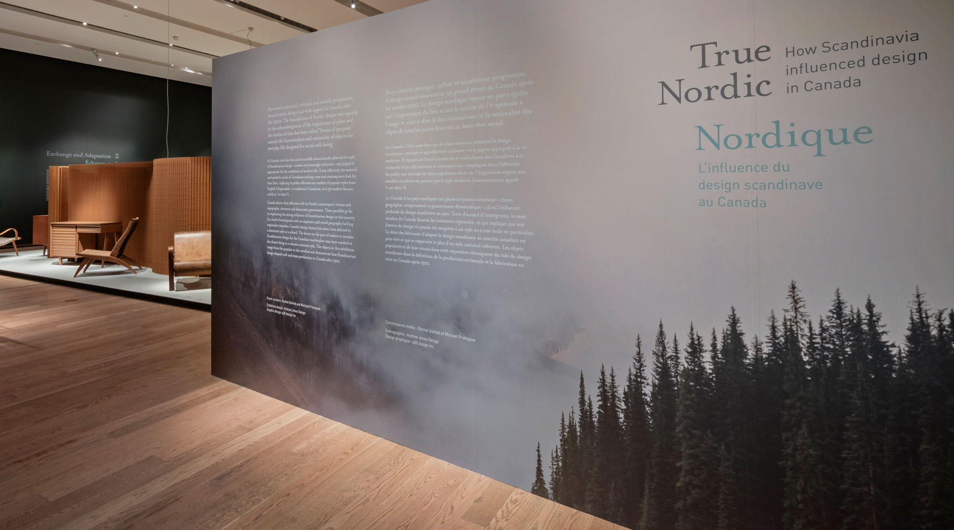 True Nordic exhibit intro wall