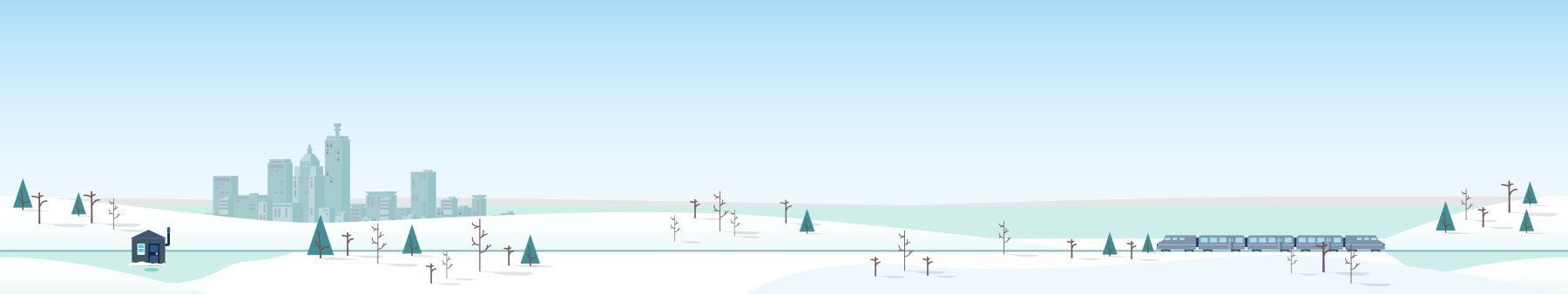 Kilowatt Way winter background illustration detail