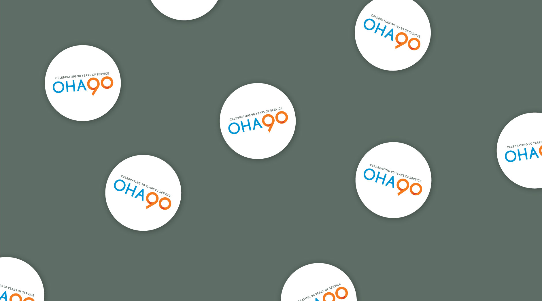 OHA 90th stickers