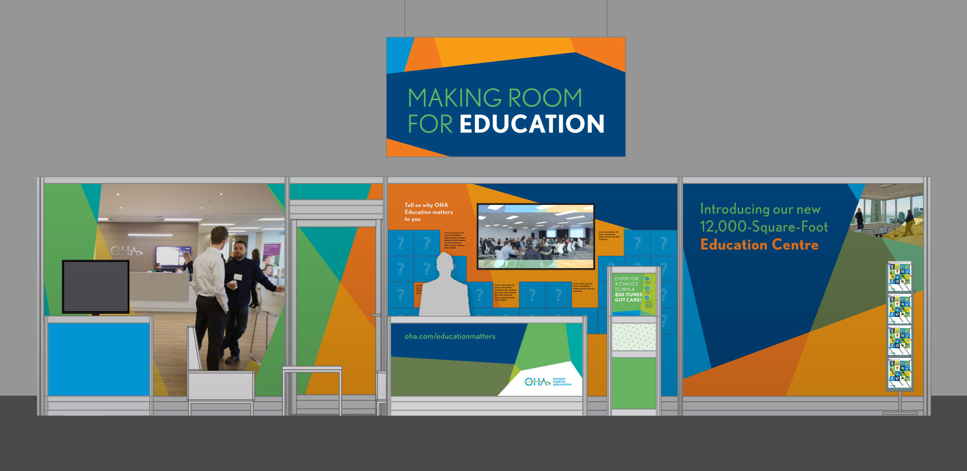 Making Room for Education booth mockup