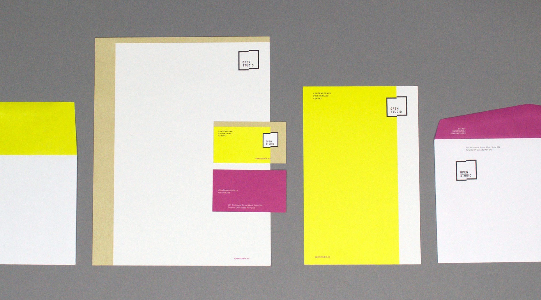 Open Studio stationery