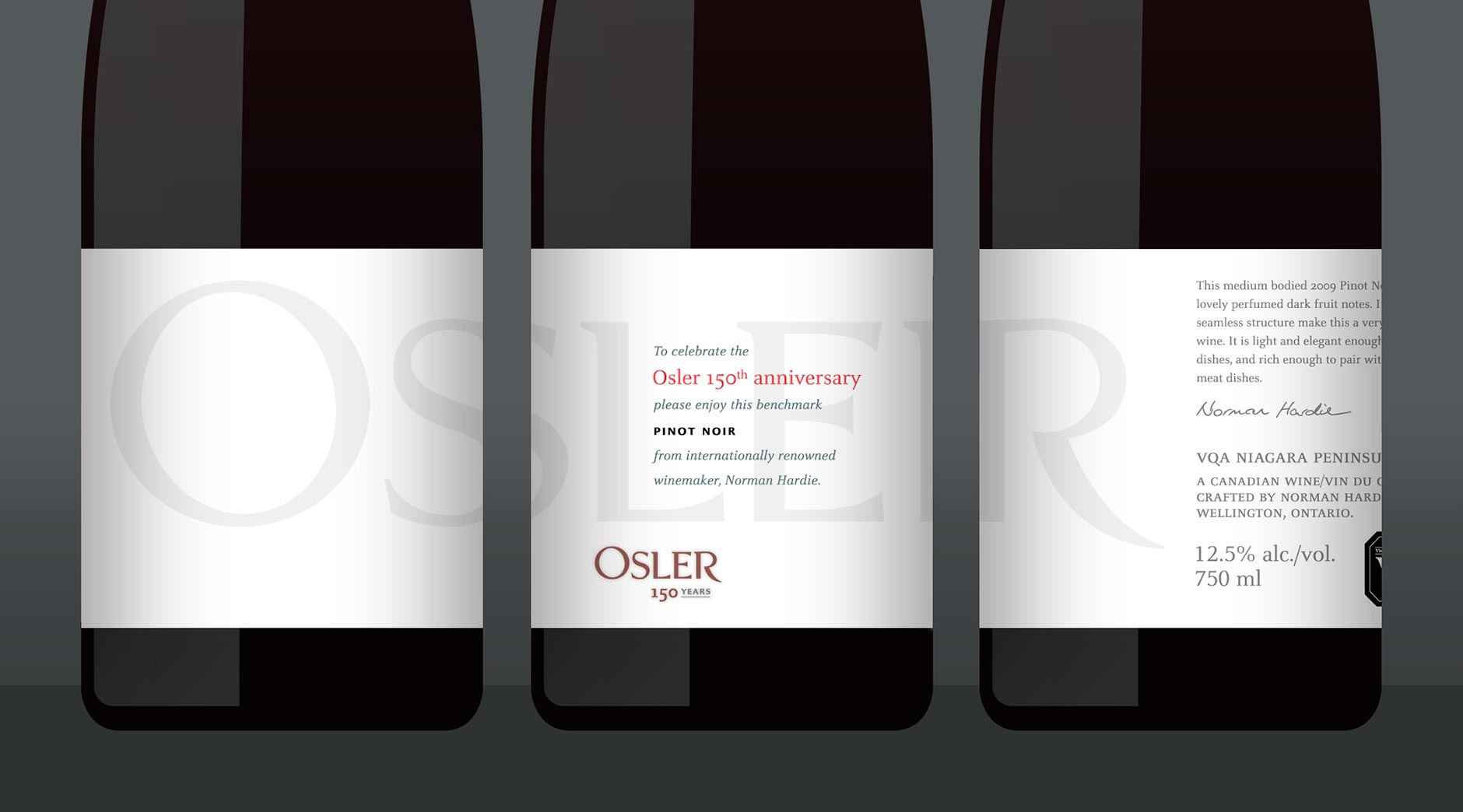 Osler 150 wine bottle