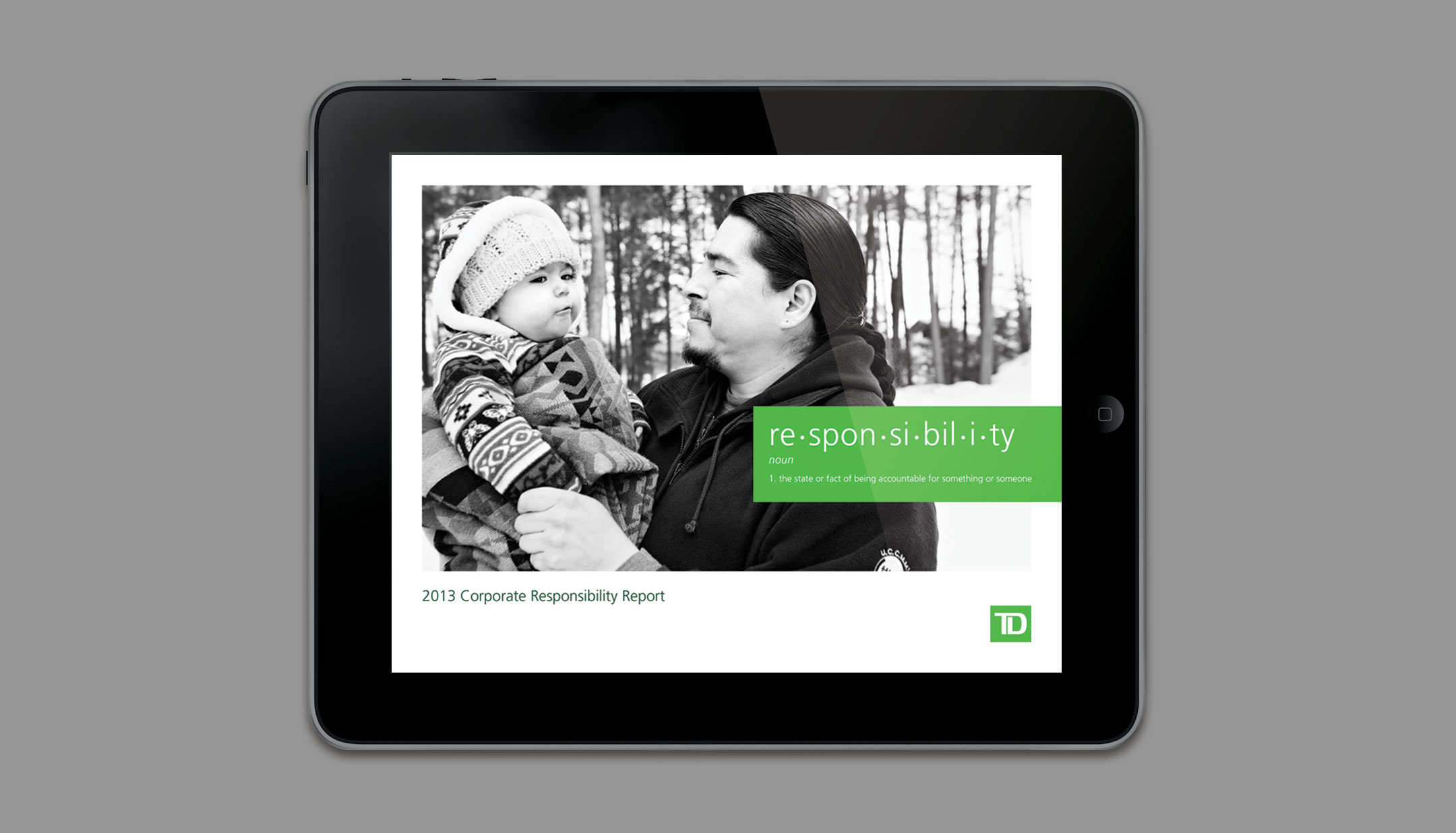 TD Corporate Responsibility slide 1