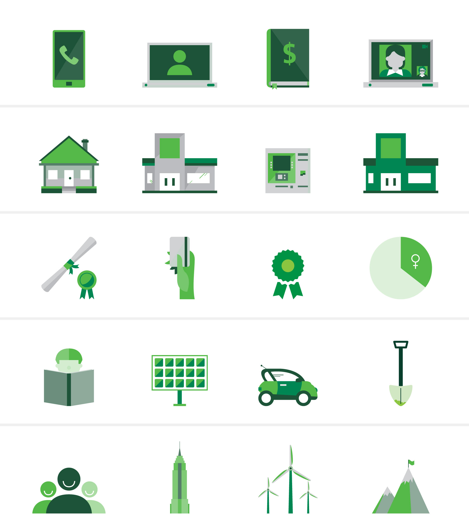 TD Corporate Responsibility icons